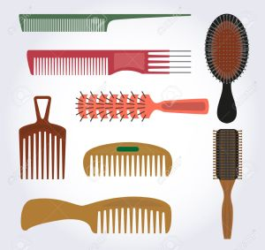 21493449-Combs-brushes-for-hair-brush-there-are-many-different-shapes-and-different-for-hair--Stock-Vector